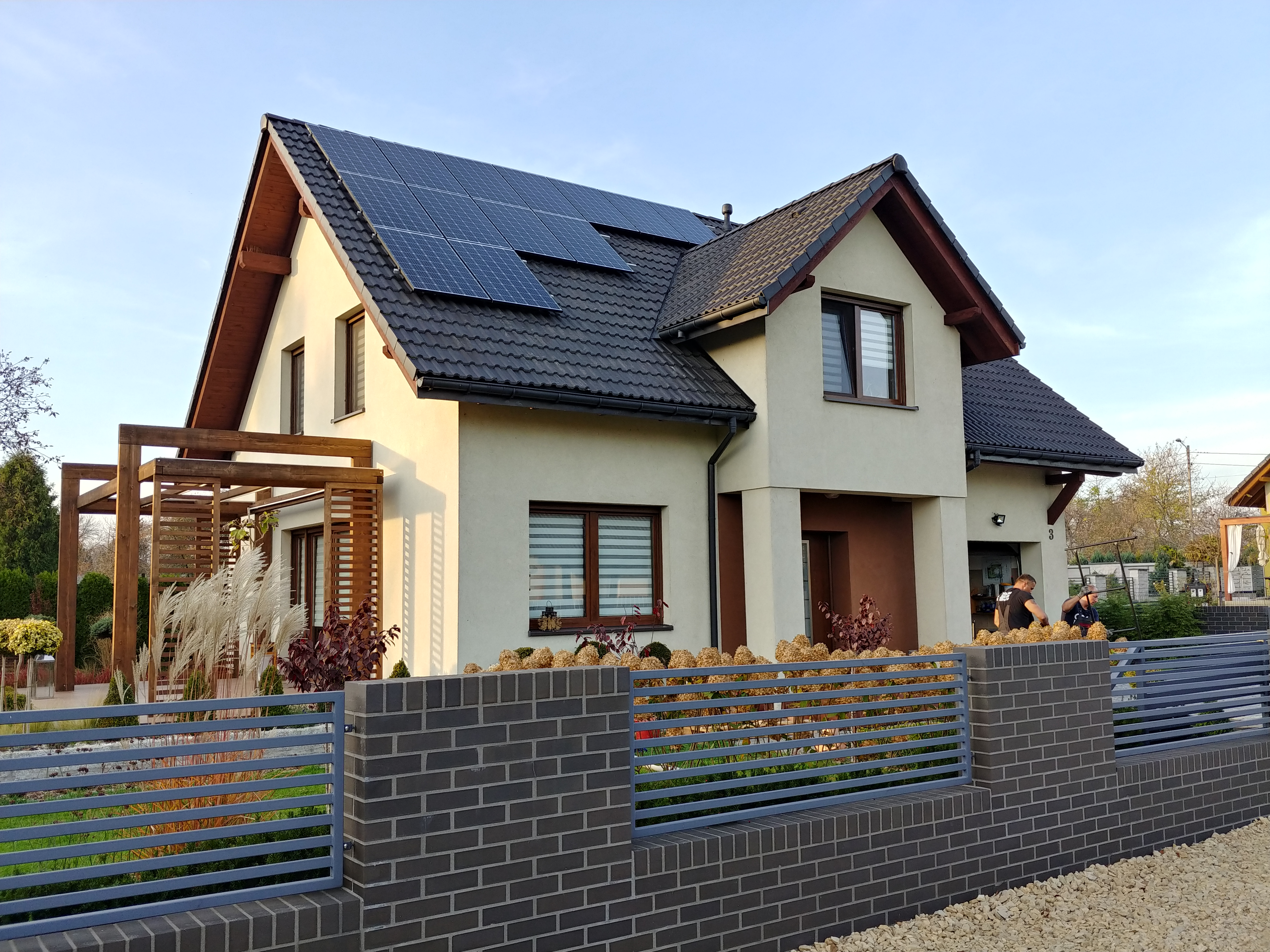 Installation with a maximum power of 6.2 kWp mounted on the south side of the gable roof in Zabrze.