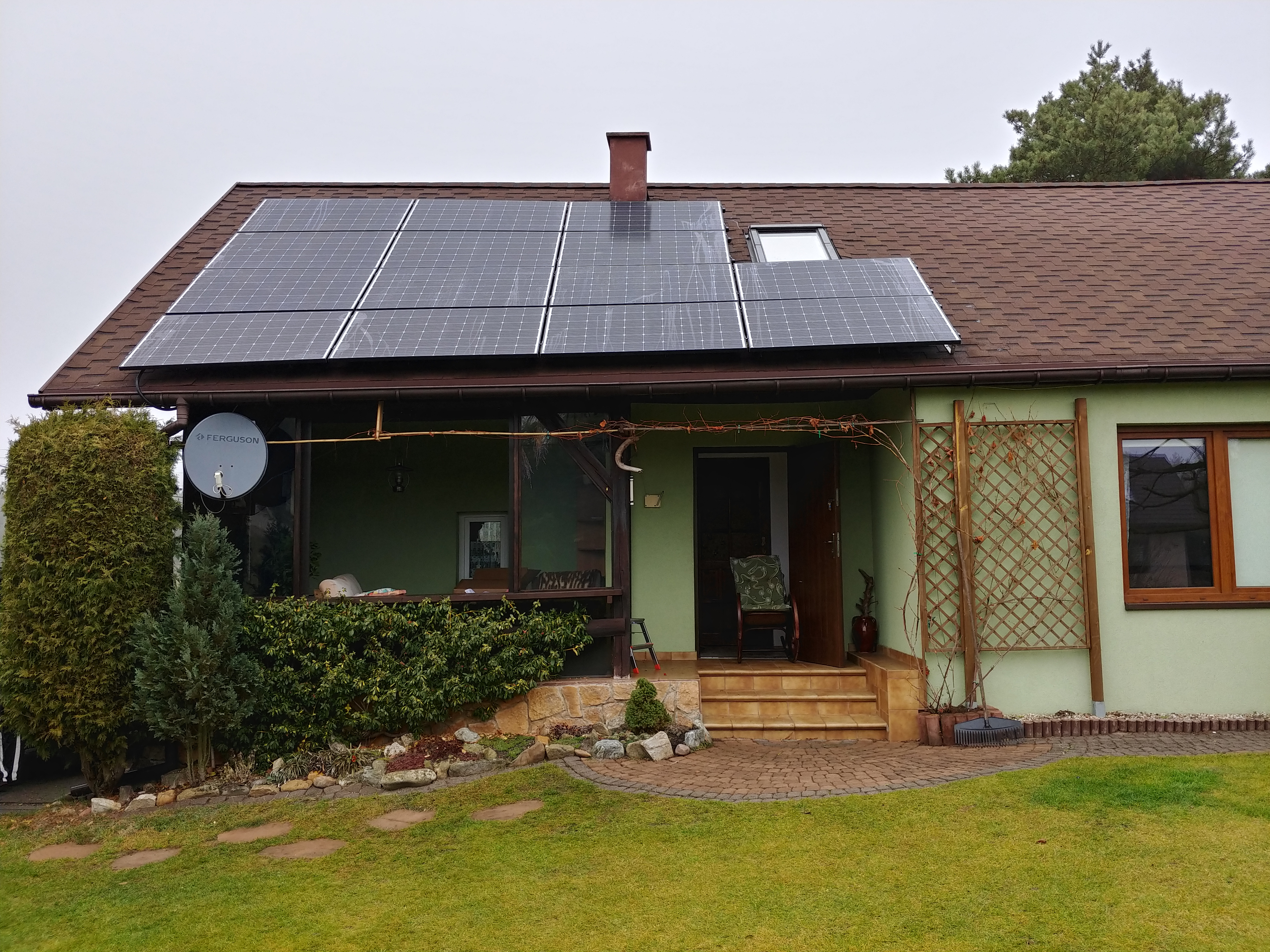 4.34 kWp installation mounted on the south side of a gable roof in Pilica.