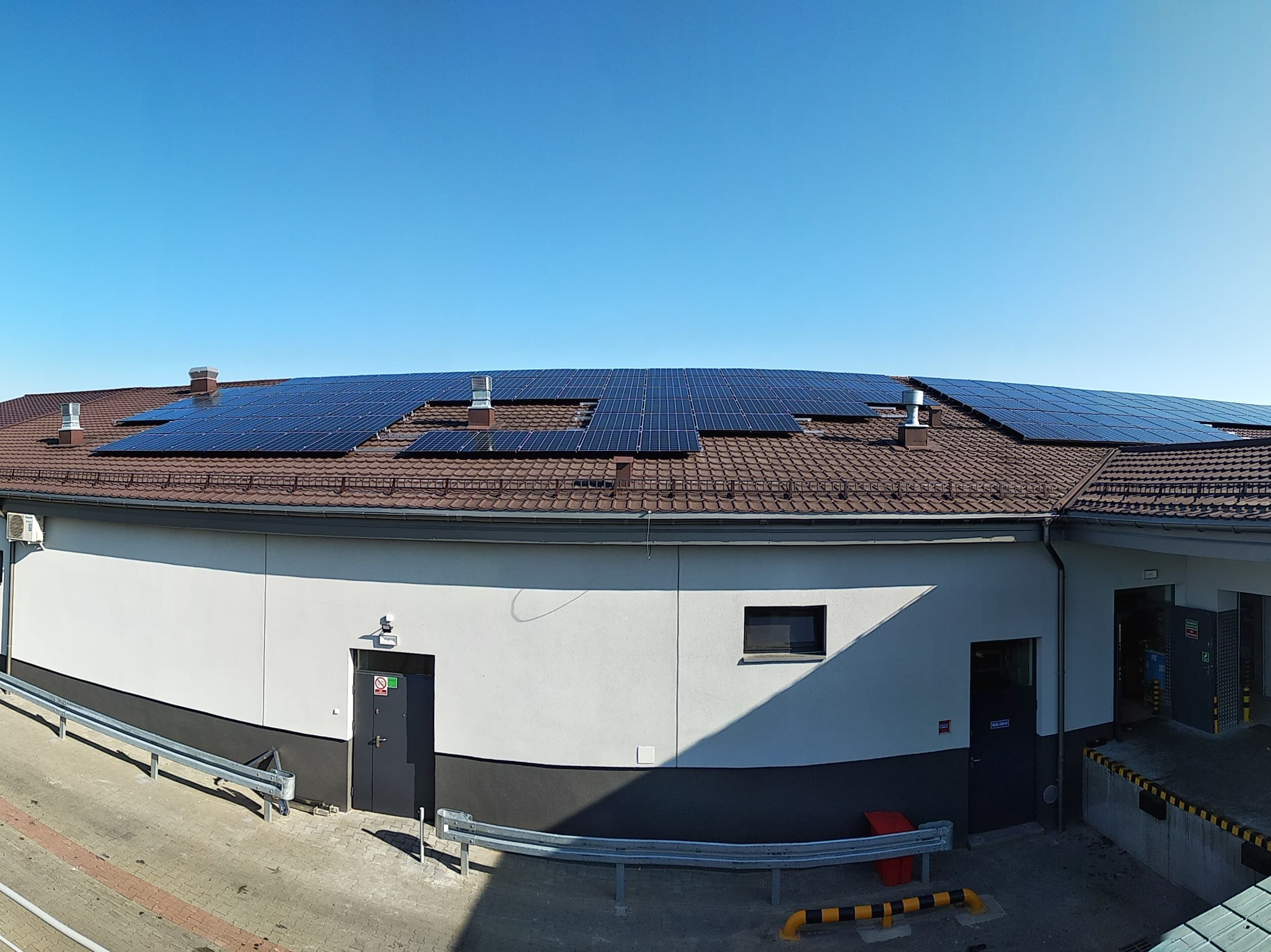 Installation with maximum power of 49 kWp mounted on a gable roof in Rypin.